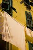Fresh laundry drying Stock Image