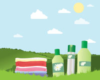 Fresh laundry Royalty Free Stock Image