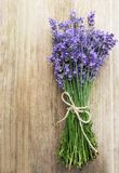 Fresh lavender flowers. On a old wooden table stock images
