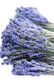 Fresh lavender handmade bunches on white Royalty Free Stock Photo