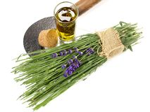 Fresh Lavender and Oil - Healthy Nutrition stock photos