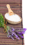 Fresh lavender spa set Royalty Free Stock Photos