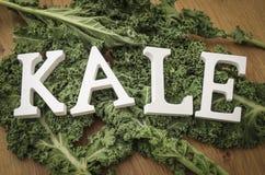 Fresh leaves of kale Royalty Free Stock Photo