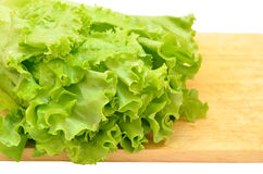 Fresh leaves of lettuce Stock Photo