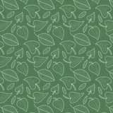 Fresh leaves seamless pattern in vector. Colorful foliage endless background. Royalty Free Stock Photo