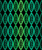 Fresh leaves seamless pattern in vector. Green foliage endless background. Stock Photography