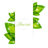 Fresh leaves vector border Stock Photography