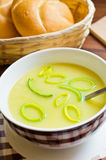 Fresh leek soup Royalty Free Stock Photo