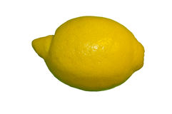 Fresh lemon. Isolated on white (side view Royalty Free Stock Images