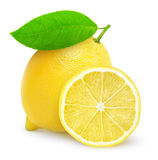 Fresh lemon. Over white background