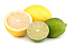 Fresh Lemon And Lime Stock Photography