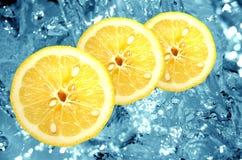 Fresh lemon background Royalty Free Stock Images
