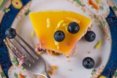 Fresh lemon and blueberry cake Royalty Free Stock Image