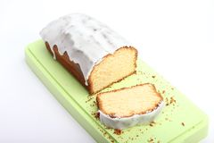 Fresh lemon cake Stock Image