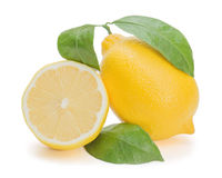 Fresh lemon citrus with cut Stock Images