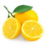 Fresh lemon citrus and half Stock Photos