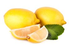 Fresh lemon citrus  on white background Stock Photo