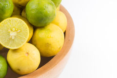Fresh lemon cut Stock Image