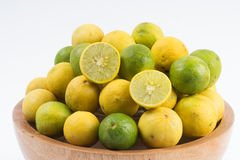 Fresh lemon cut Stock Photo