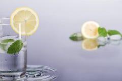 Fresh lemon drink with mint. Royalty Free Stock Photo