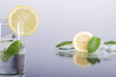 Fresh lemon drink with mint. Fresh lemon drink with mint and ice Stock Images