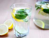 Fresh lemon drink Royalty Free Stock Photo