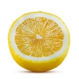 Fresh Lemon fruit isolated on white. Half of Lemon fruit isolated on white background royalty free stock image
