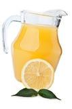 Fresh lemon fruit and juice Royalty Free Stock Photo