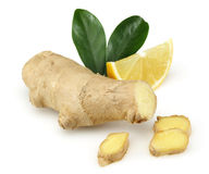 Fresh lemon with ginger Royalty Free Stock Image