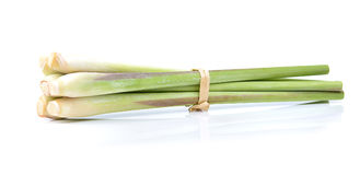 Fresh Lemon grass on a white background.  Stock Photo