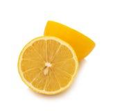Fresh  lemon  with  half isolated on white background Stock Photography