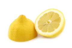 Fresh lemon halves Royalty Free Stock Photography