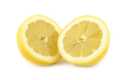 Fresh lemon halves Royalty Free Stock Photos