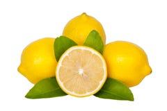 Fresh lemon isolated on white background Royalty Free Stock Photos