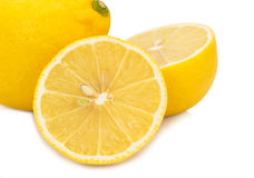 Fresh  lemon   isolated  on white background Royalty Free Stock Photo