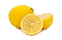 Fresh  lemon   isolated  on white background Royalty Free Stock Images