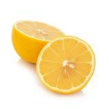 Fresh  lemon   isolated  on white background Stock Photo