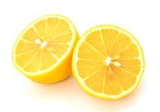 Fresh  lemon   isolated  on white background Stock Image