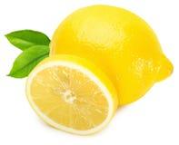 Fresh lemon isolated on a white background Stock Photos