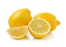 Fresh lemon isolated on white background Stock Photography