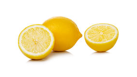 Fresh lemon isolated on white background Stock Images