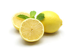 Fresh lemon isolated on white background Royalty Free Stock Images