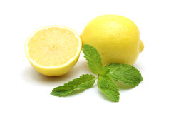 Fresh lemon isolated on white background Royalty Free Stock Photo