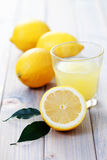Fresh lemon juice Royalty Free Stock Images