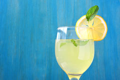 Fresh lemon juice. Royalty Free Stock Photography