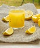 Fresh lemon juice Stock Photography