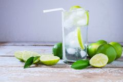 Fresh lemon juice for health stock photo