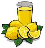 Fresh lemon juice stock illustration