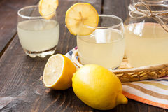 Fresh lemon juice Stock Images