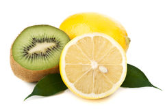 Fresh lemon and kiwi Stock Image